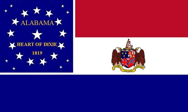 File:Alabama State Flag Proposal Red White and Blue Heart of Dixie 1819 Stars and Bars Designed By Stephen Richard Barlow 21JULY2014.jpg