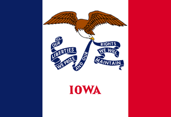 Current flag of Iowa