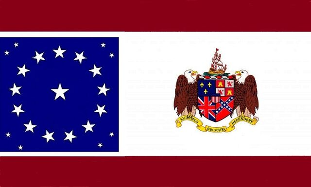 File:Alabama State Flag Proposal 22 Star Medallion Pattern Sons of Liberty Concept with Alabama Coat of Arms Designed By Stephen Richard Barlow 25 JULY 2014.jpg