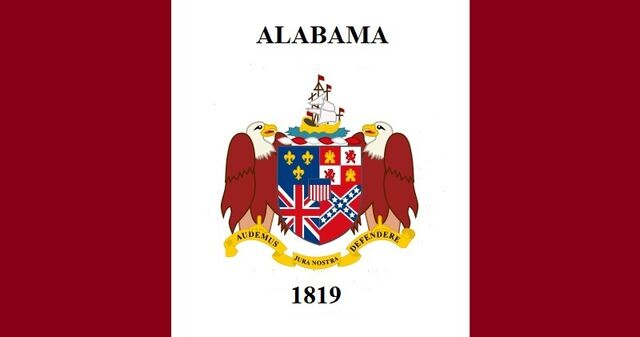 File:Alabama State Flag Proposal Feature of State Coat of Arms date 1819 Designed By Stephen Richard Barlow 23 JULY 2014.jpg