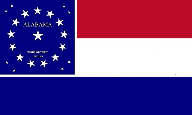File:Alabama State Flag Proposal Red White and Blue Stars and Bars of IN GOD WE TRUST 1819 Designed By Stephen Richard Barlow 07182014.jpg