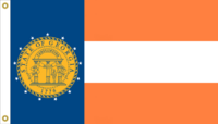 Georgia State Flag Proposal No. 3c Designed By Stephen Richard Barlow 17 MARCH 2015 at 0919 HRS CST