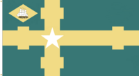 Delaware State Flag Proposal No. 7 Designed By Stephen Richard Barlow 9 JUN 2015 at 1934 HRS CST. Canton ship Image credit to Michael Rudolf