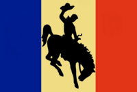 Wyoming State Flag Proposal No 2 Designed By Stephen Richard Barlow 07 OCT 2014 at 1443hrs cst
