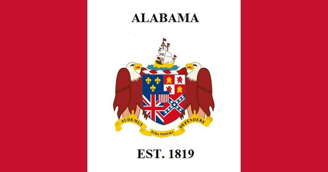File:Alabama State Flag Proposal Feature of State Coat of Arms EST date 1819 Designed By Stephen Richard Barlow 6292014.jpg