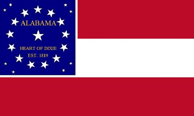File:Alabama State Flag Proposal Stars and Bars of The Heart of Dixie 1819 Designed By Stephen Richard Barlow 07182014.jpg