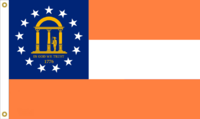 Georgia State Flag Proposal No. 7a (800px) Designed By Stephen Richard Barlow 17 MARCH 2015 at 0945 HRS CST