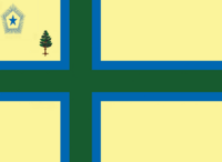Maine State Flag Proposal No 8 Designed By Stephen Richard Barlow 27 OCT 2014 at 1230hrs cst