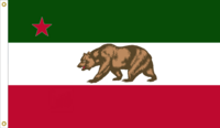 California Republic Flag Remix of an AlternateFlags Design Remixed By Stephen Richard Barlow on 12 FEB 2015 at 1315 HRS CST