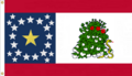Alabama 22 star NOLI ME TANGERE State Flag Proposal Designed By Stephen Richard Barlow 17 FEB 2015 at 0557 HRS CST Based on a Designs of the Ladies of Montgomery Al 1861 Sec. Flag, Nicola Marschall of Montgomery Alabama in 1861.png