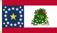 Alabama 22 star NOLI ME TANGERE State Flag Proposal Designed By Stephen Richard Barlow 17 FEB 2015 at 0557 HRS CST Based on a Designs of the Ladies of Montgomery Al 1861 Sec. Flag, Nicola Marschall of Montgomery Alabama in 1861