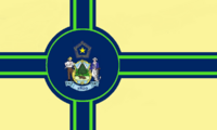 Maine State Flag Proposal No 12 Designed By Stephen Richard Barlow 27 OCT 2014 at 1445hrs cst