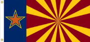 Arizona State Flag proposal No. 3 Designed By Stephen Richard Barlow 16 JAN 2015 at 1551 HRS CST.