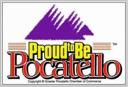 Flag of Pocatello, Idaho (former)