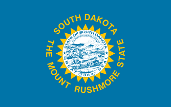 Current flag of South Dakota