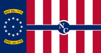North Carolina State Flag Proposal No 7 Designed By Stephen Richard Barlow 05 SEP 2014 at 1244hrs cst