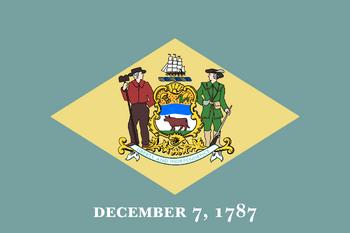 Current flag of Delaware