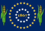 Nebraska State Flag 37 Star Medallion for 37th State (1867) Proposal No 14 By Stephen Richard Barlow 22 OCT 2014 at 1004hrs cst
