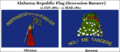 Alabama Republic (Secession Banner) 11 JAN 1861 - 11 MAR 1861 Designed By The Ladies of Montgomery, Alabama Post Card Designed By S. R. Barlow 11 FEB 2015 at 0723 HRS CST..png