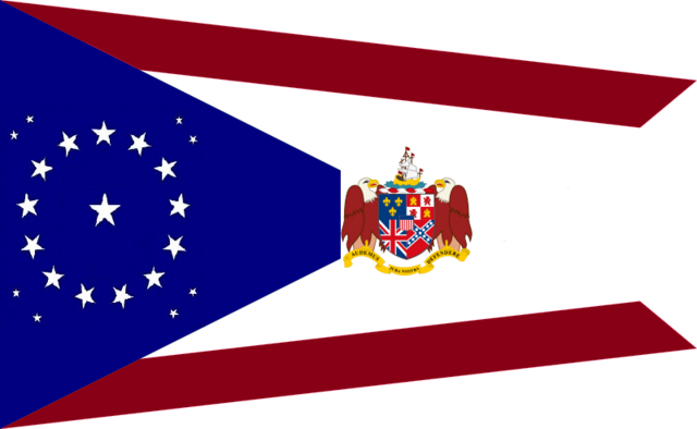 File:Alabama State Flag Proposal 22 Star Medallion swallow tail concept Designed By Stephen Richard Barlow 26 July 2014.png