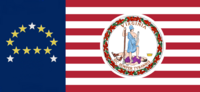 Virginia State Flag Proposal No 18c Designed By Stephen Richard Barlow 19 NOV 2014 at 0954 hrs cst