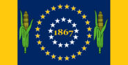 Nebraska State Flag 37 Star Medallion for 37th State (1867) Proposal No 15 By Stephen Richard Barlow 22 OCT 2014 at 1033hrs cst