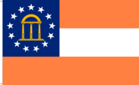 Georgia State Flag Proposal No. 44 Designed By Stephen Richard Barlow 17 MAR 2015 at 0431 HRS CST