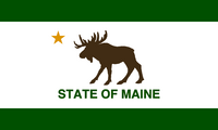 Maine flag design