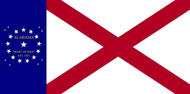 File:Alabama State Flag 22 Star Heart of Dixie traditional Concept Designed By Stephen R Barlow 62914.jpg