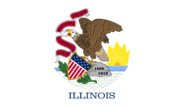 Current flag of Illinois