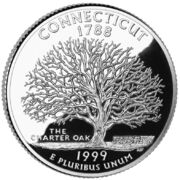 Connecticut quarter, reverse side, 1999