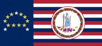 Virginia State Flag Proposal No 18k Designed By Stephen Richard Barlow 20 NOV 2014 at 0707 hrs cst