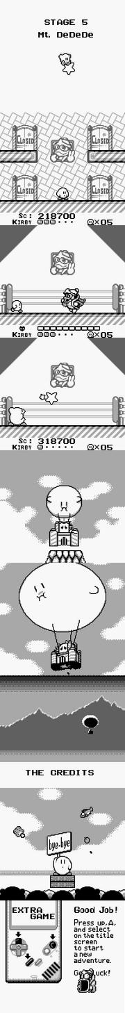 Kirby's Dream Land ENDING