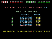Space Harrier high score