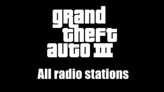 GTA III (GTA 3) - All radio stations (Rev. 1)