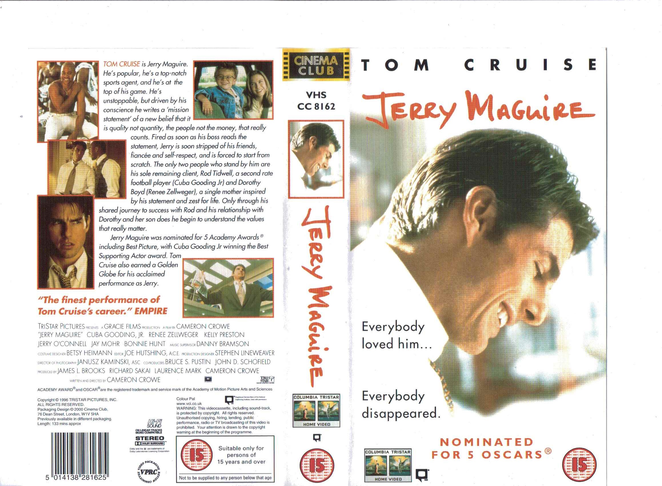 jerry maguire (2000, uk retail tape) | vhs and dvd covers wikia