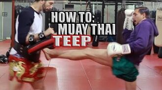 How to Muay Thai Teep - Front Push Kick