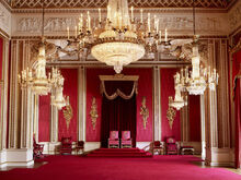 Throne Room at Buckingham Palace