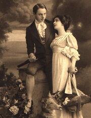 Victorian gentleman and ladies