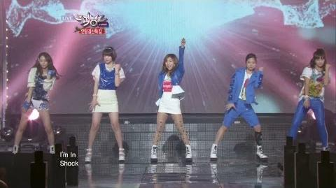 에프엑스 Electric Shock KBS MUSIC BANK End of Year Special 2012.12.21