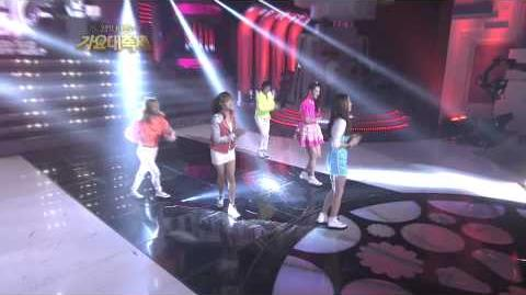 에프 엑스 Hot Summer(REMIX. DJ KOO) Special Stage 2011.12.30 2011 KBS Song Festival