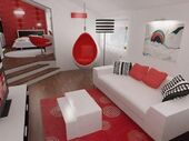 Attractive-and-Unique-big-Bedroom-Design-in-Black-Red-and-White