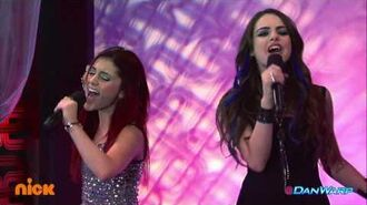 """Ariana Grande and Liz Gillies Sing """"Give It Up!"""" """"Victorious"""" """"Freak the Freak Out"""""""