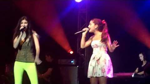 LA Boys - Ariana Grande & Victoria Justice (Summer Concert Series Universal Orlando)