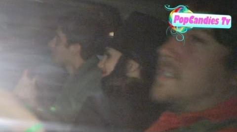 Victoria Justice as Abe Lincoln Sneaks Out with Ryan Rottman at Miley Cirus Halloween Party LA