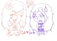 Cat and Jade Chibis by EmoGirl1820