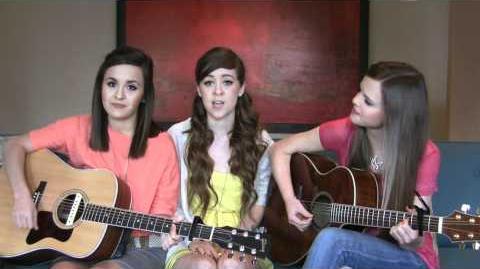 "Us singing ""Born this Way"" by Lady Gaga with Megan & Liz!"