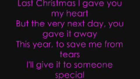 Last christmas lyrics taylor swift