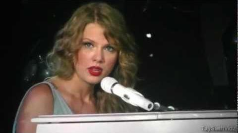 Taylor Swift - Back to December Apologize You're Not Sorry (Live)