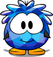 Blue Crystal Puffle Costume Player Card